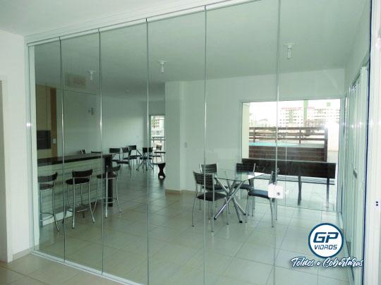 Envidraçamento de Ambiente - Vidro Incolor - Lanchonete