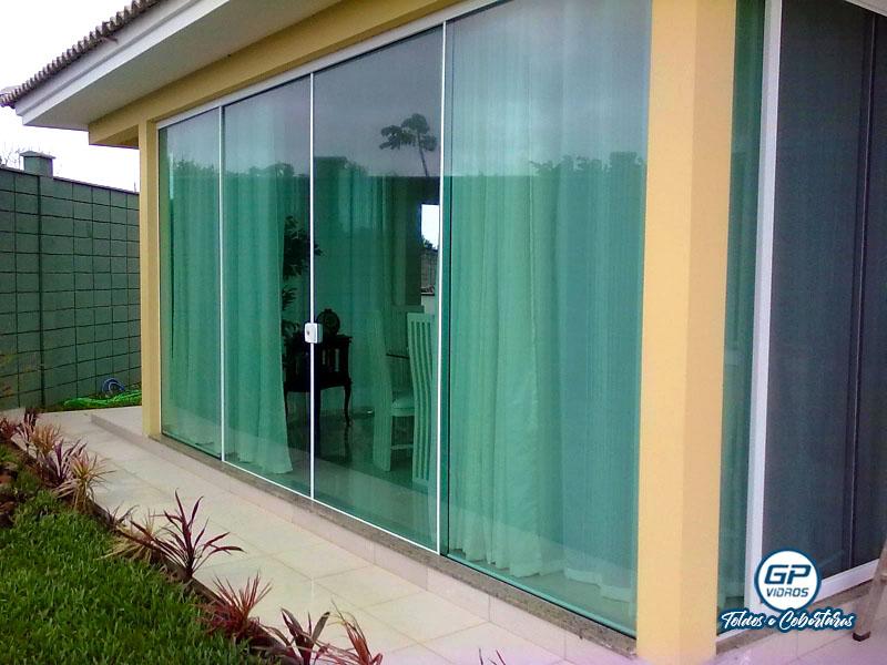 Porta de Vidro - Vidro Verde - Varanda Residencial